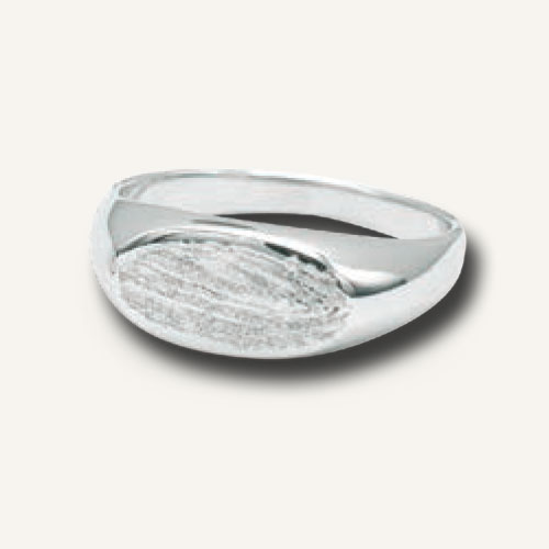 Fingerprint jewellery silver ring