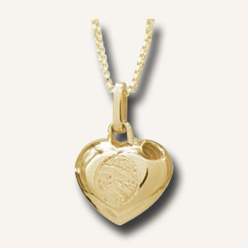 Fingerprint jewellery gold locket