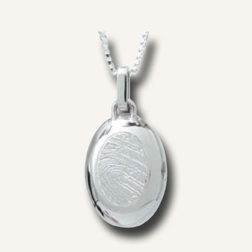 Fingerprint jewellery silver locket