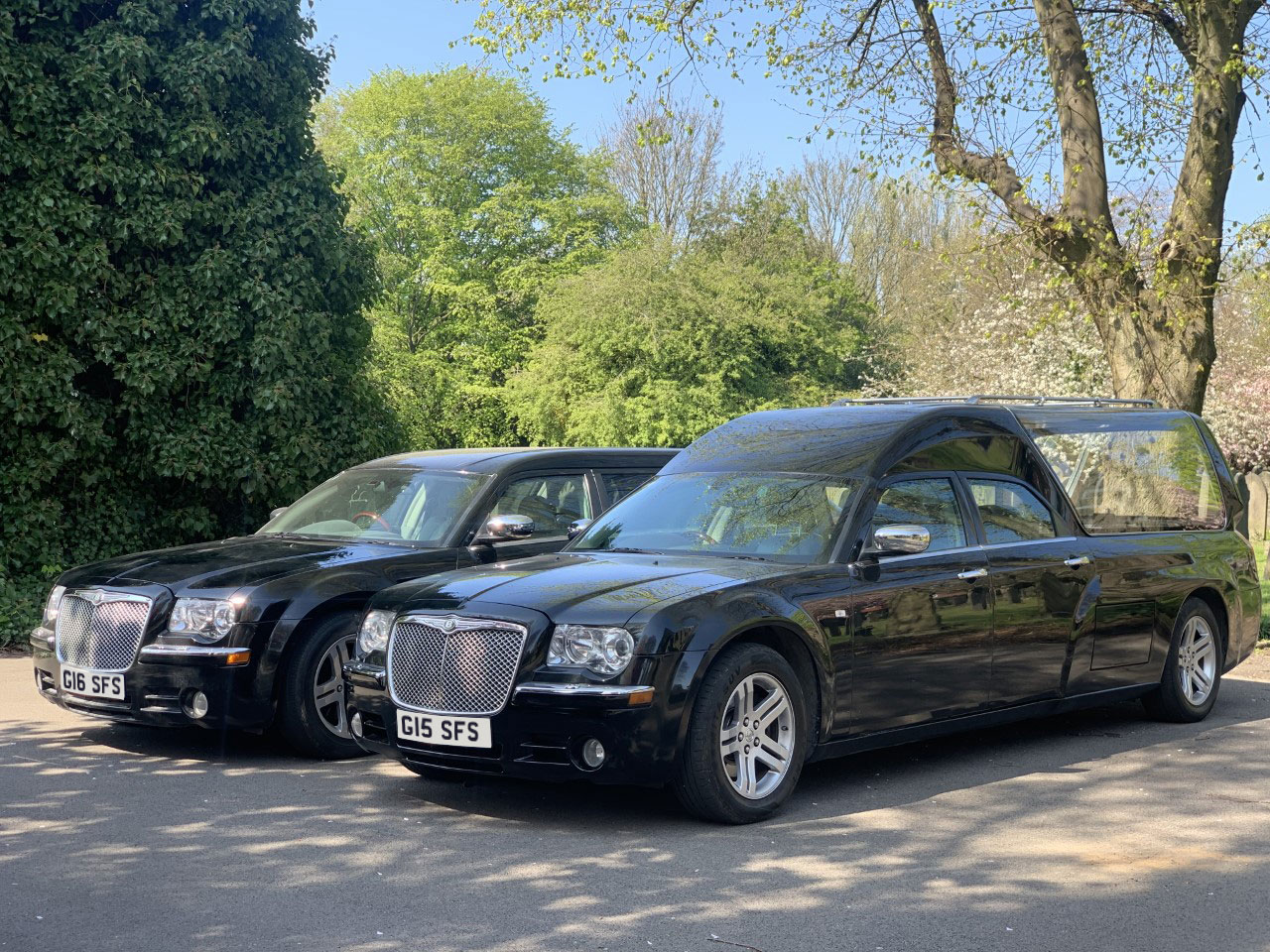 limousine and hearse as supplied by Sincerity Funerals Funeral Director Wolverhampton